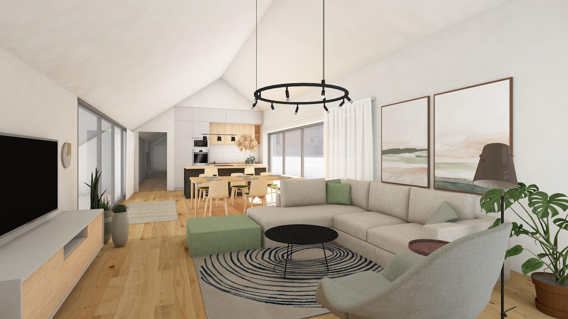 Dachgeschoß-Loft-Wohnung