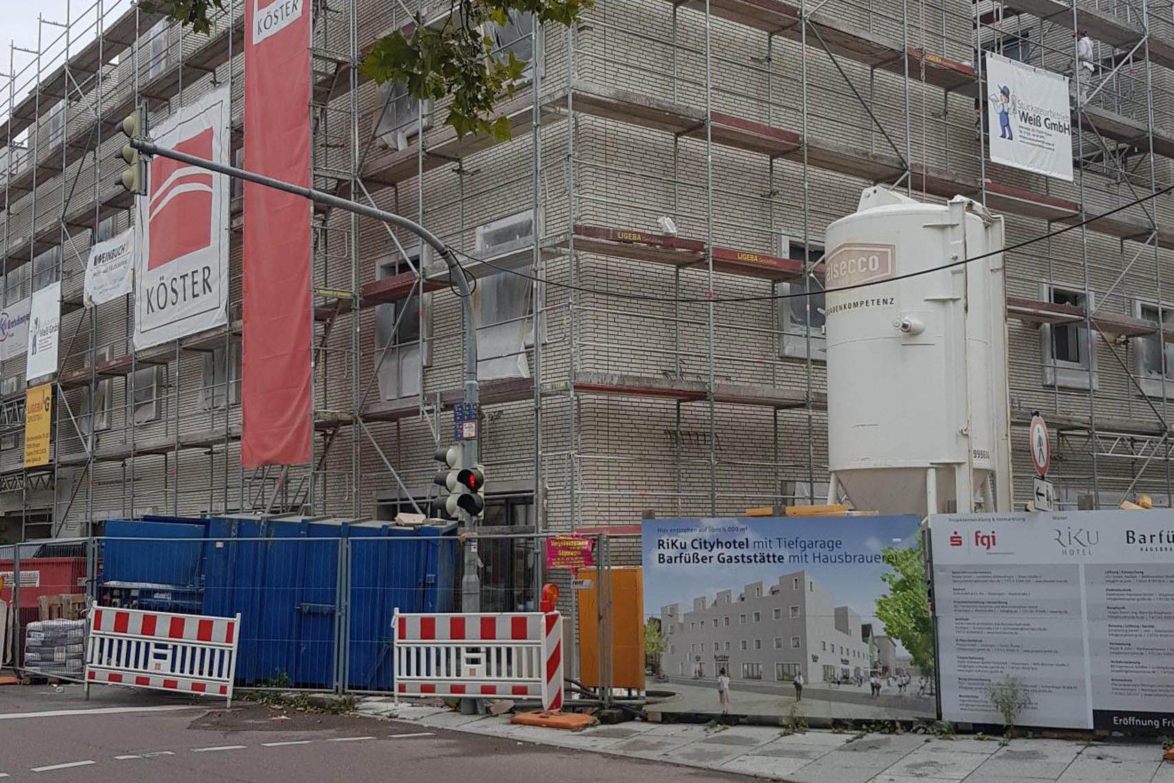 Neubau ZUM - Zentrum untere Marktstrasse in Göppingen - Baufortschritt